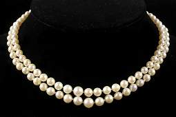 NECKLACE  Double Strand Graduated Cultured Pearl