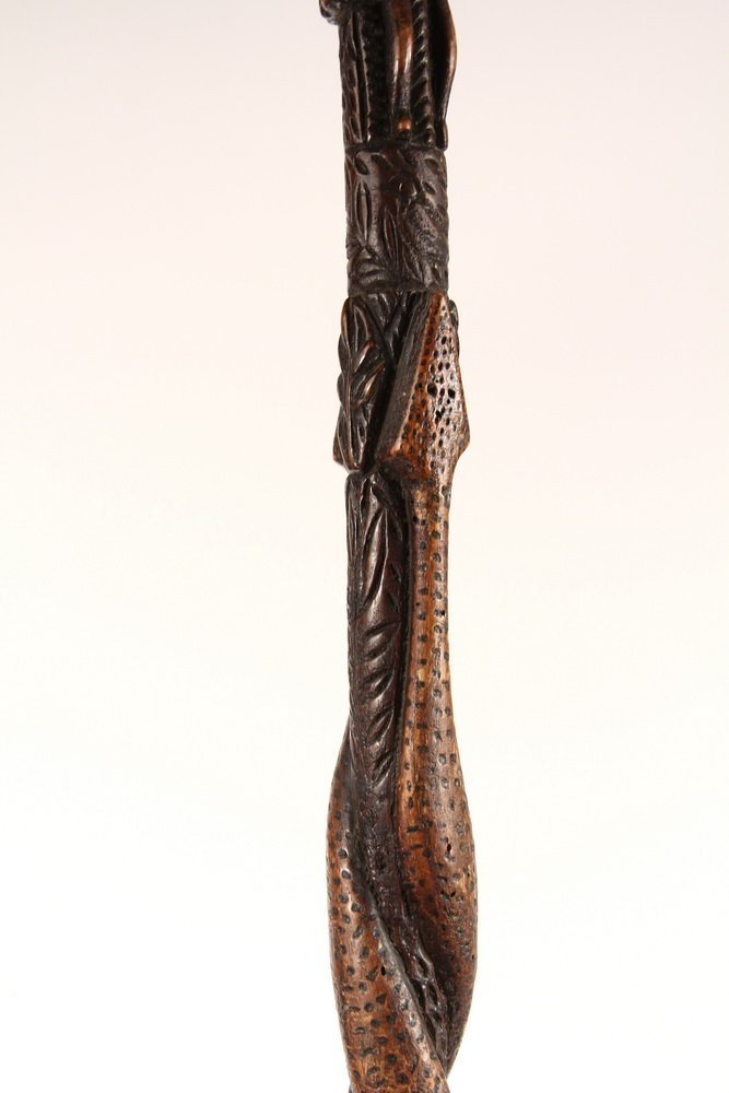 NATIVE AMERICAN WALKING STICK - Early 19th c Iroquois - 2