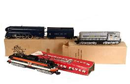 3 TOY TRAIN ENGINES  AC Gilbert American Flyer