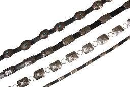 BELTS - Group of (3) Native American Crafted Concho