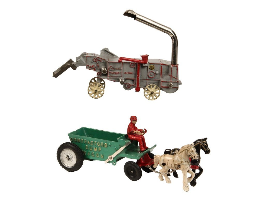 (2) CAST IRON TOYS - Both by Arcade Mfg Co of Freeport,