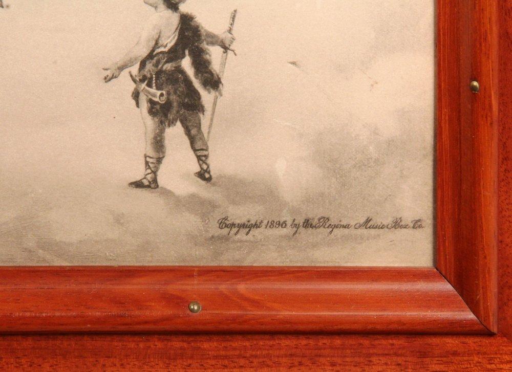 REGINA MUSIC BOX - 15 1/2-inch Disc Mahogany Cased - 7