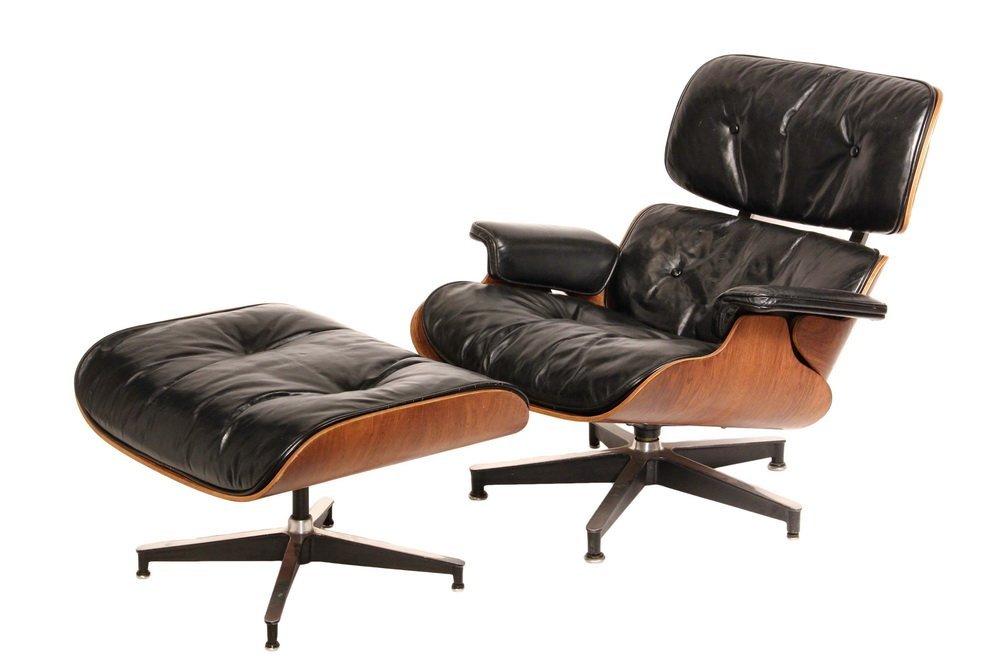 Vintage eames chair - Vintage Eames Lounge Chair Ottoman Herman Miller