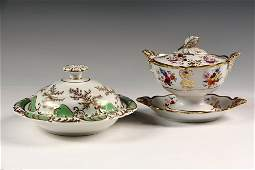 2 EARLY ENGLISH PORCELAIN SERVING PIECES  Including