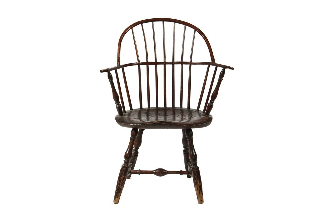 WINDSOR CHAIR - Circa 1800 Sack Back Windsor Armchair,
