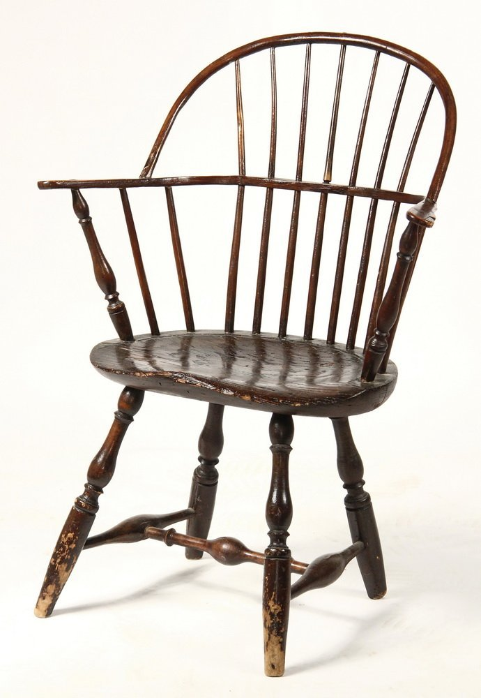 WINDSOR CHAIR - Circa 1800 Sack Back Windsor Armchair, - 2