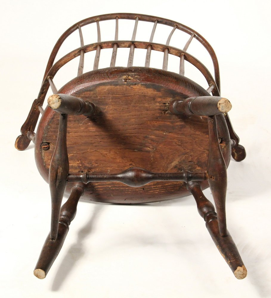 WINDSOR CHAIR - Circa 1800 Sack Back Windsor Armchair, - 4