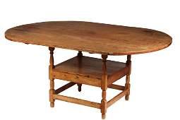 CHAIR TABLE - Large Top Lozenge Shaped Pumpkin Pine