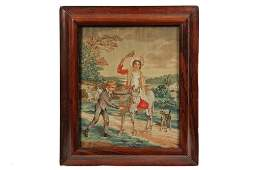 FRAMED ENGLISH STITCHWORK - Regency Period Needlework,