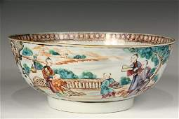 CHINESE EXPORT BOWL - Late 18th c. Canton Famille Rose