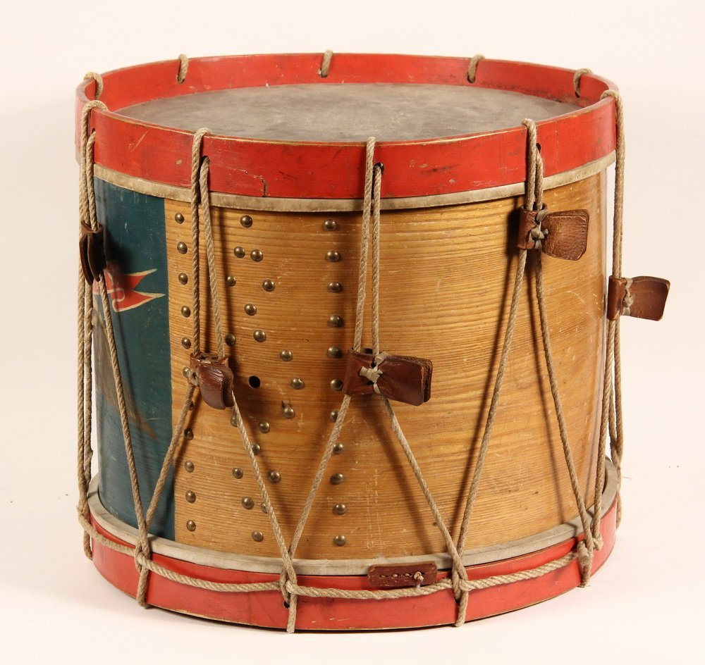 CIVIL WAR FIELD DRUM - A. Rogers Snare Marching Drum, - 3