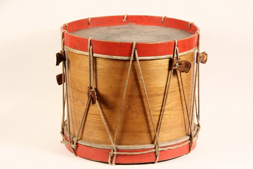 CIVIL WAR FIELD DRUM - A. Rogers Snare Marching Drum, - 4