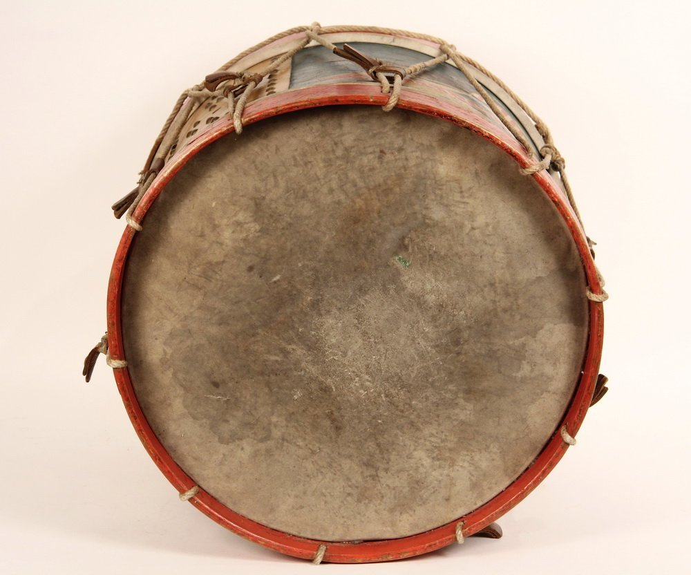 CIVIL WAR FIELD DRUM - A. Rogers Snare Marching Drum, - 6