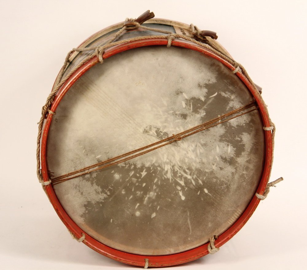 CIVIL WAR FIELD DRUM - A. Rogers Snare Marching Drum, - 7