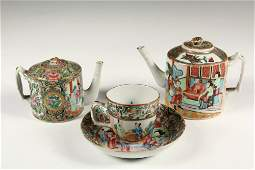 4 PCS MINIATURE CHINESE EXPORT PORCELAIN  All early