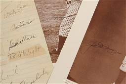 COLLECTION OF BASEBALL AUTOGRAPHS w/ RUTH & DIMAGGIO -
