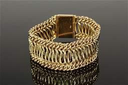 BRACELET - Circa 1950 Chain Link Design Bracelet in