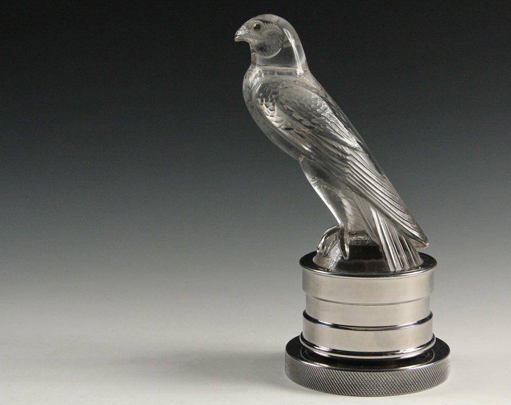 Falcon hood ornament - Lalique Hood Ornament Faucon Falcon