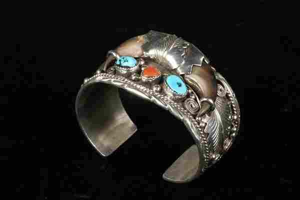 BRACELET - Native American Craft Sterling Silver Cuff
