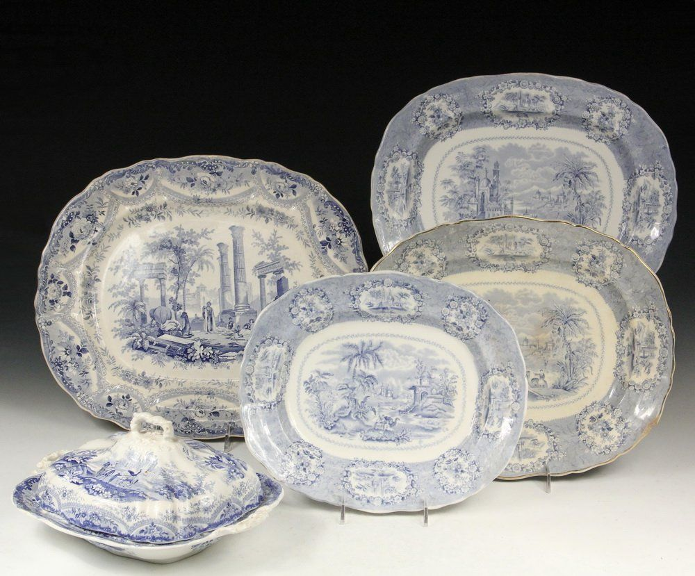 (4 PCS) STAFFORDSHIRE POTTERY - Including: Large