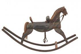 Folk Art Rocking Horse - Early 19th C. New England