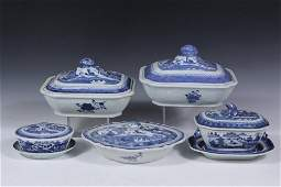 7 CHINESE PORCELAIN SERVING PIECES  All 19th c