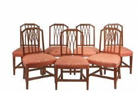 Set Of (7) Hepplewhite Chairs - Period Mahogany Chairs