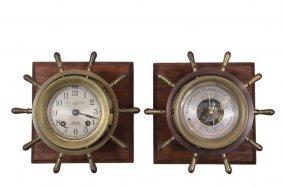 Wall Mount Ship's Clock & Barometer - Chelsea Ship's