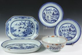 (5 Pcs) Chinese Export Porcelain - All 19th C,