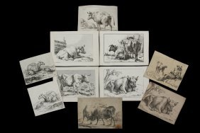 Collection Of (25) Dutch 17th C Livestock Engravings -