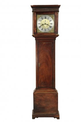 English Tall Clock - George Iii Longcase Clock By