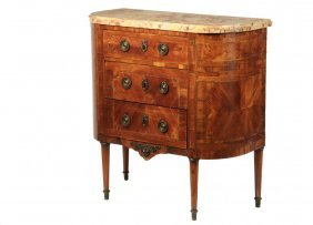 19th C French Commode - Small Louis Xv Style Commode