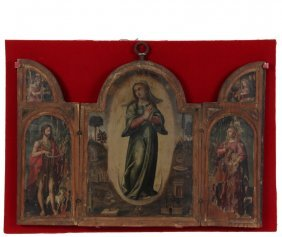Old Masters Triptych - Flemish Altar Triptych Of The