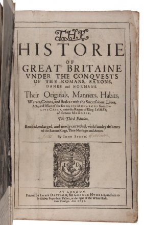 Early Large Volume English History - John Speed's 1632