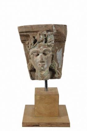 Ancient Greco-sassanian Stone Sculpture - Architectural