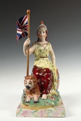 Staffordshire Figure - English Porcelain Allegorical