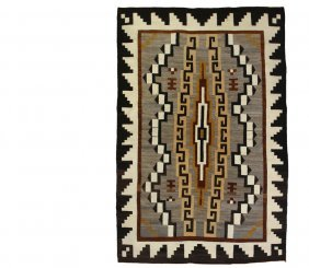 Navajo Rug - Steppe Pattern Rug, Circa 1930, In