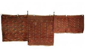"(3) West Turkestan Rugs - All Late 19th C: 1) - 2' 2"" X"