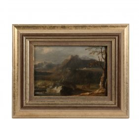 Italian Landscape - Late 18th C. Mountain Pastoral