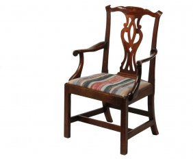 American Chippendale Armchair - Gentleman's Library Or
