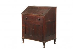 Small Country Desk - Circa 1830 Simple Country Pine
