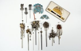 Collection Of Chinese And Japanese Hair Ornaments -