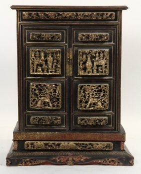 Chinese Tabletop Cabinet - Straits Chinese Ancestral