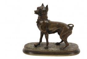 """Pierre Jules Mene (france, 1810-1879) - """"chienne"""