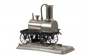 Whimsical Coffee Brewer - Early Railroad Locomotive
