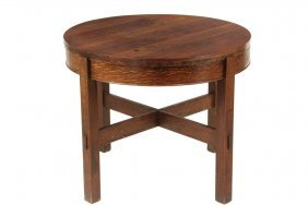 Arts & Crafts Gaming Table - Stickley Brothers Round