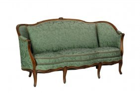 French Style Sofa - Fine Louis Xv Influenced Fruitwood