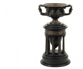 Neo-classical Urn - Mantel Garnish Of A Bronze