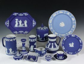 Collection (13 Pcs) Wedgwood - Blue And White Wedgwood,