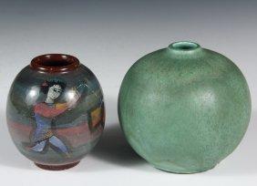 (2) Pillin Pottery Vases - Modernist Vases By Polia